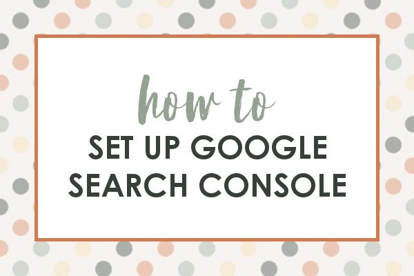 promo image for setting up google search console