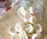 Freeze dried bananas at home