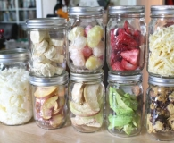Collection of home freeze dried food using the harvest right freeze dryer.