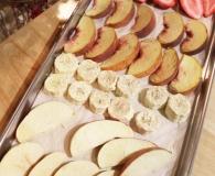 Home freeze dried fruit on a tray