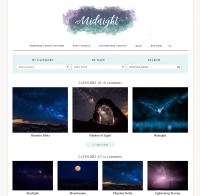 category page layout for genesis child theme on wordpress