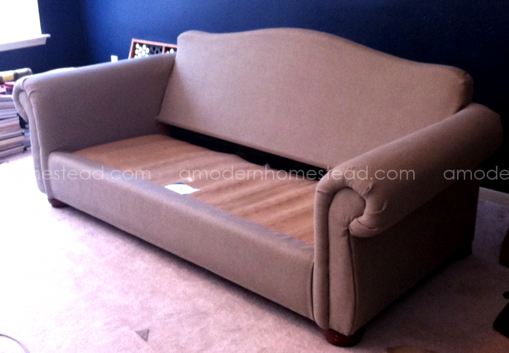 thrifty tricks the 100 couch make over. Black Bedroom Furniture Sets. Home Design Ideas