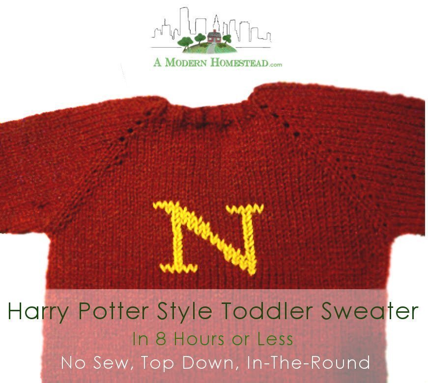 Knitted Toddler Sweater- Quick and Easy Christmas Gift