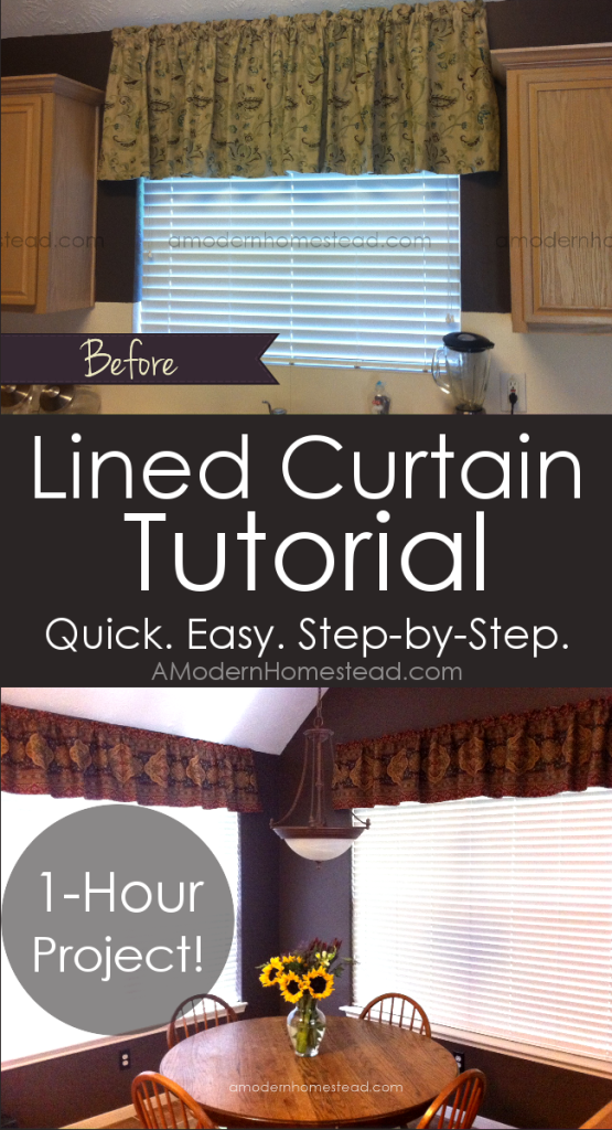 Step By Step Tutorial On How To Make Easy Lined Curtains In Under An Hour!