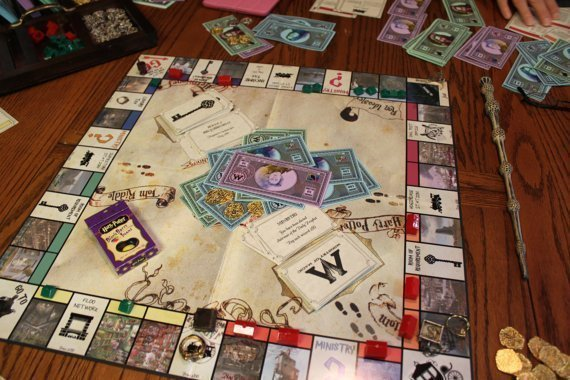 DIY Harry Potter Monopoly - Christmas Gifts to start now.