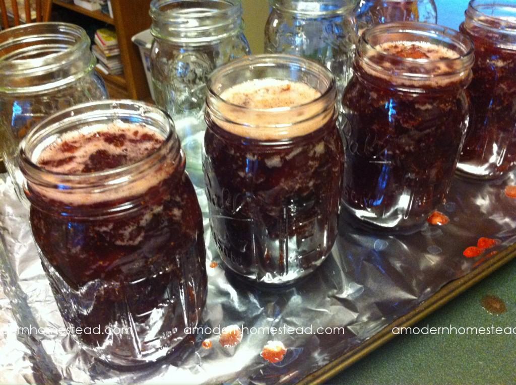 Water bath canning - Strawberry jam
