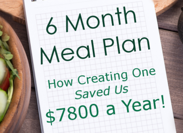 Six Month Meal Plan