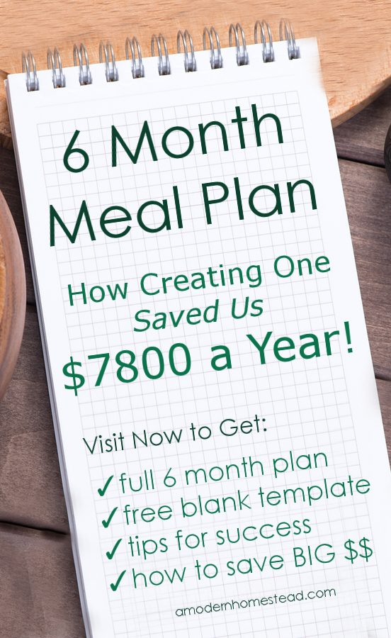 Did you know we meal plan for 6 months at a time and buy what we need in bulk? It's what allows us to spend about $200 a month TOTAL for all of our food… grass fed, organic everything.