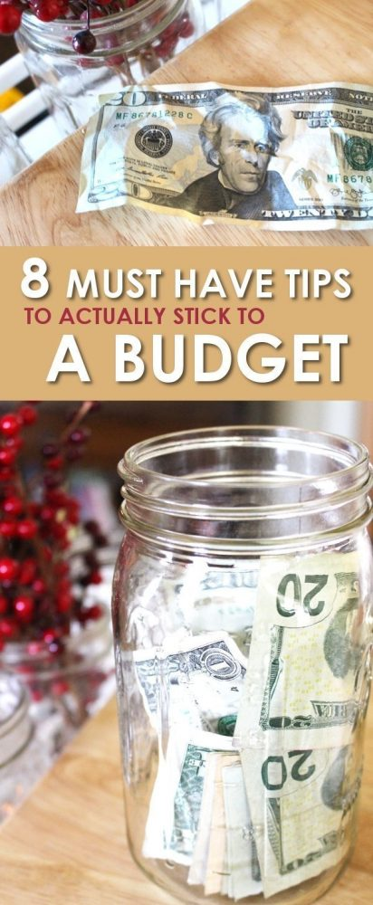 Having trouble managing to create and actually stick to a budget? These 8 must have budgeting tips will have you on track in no time!