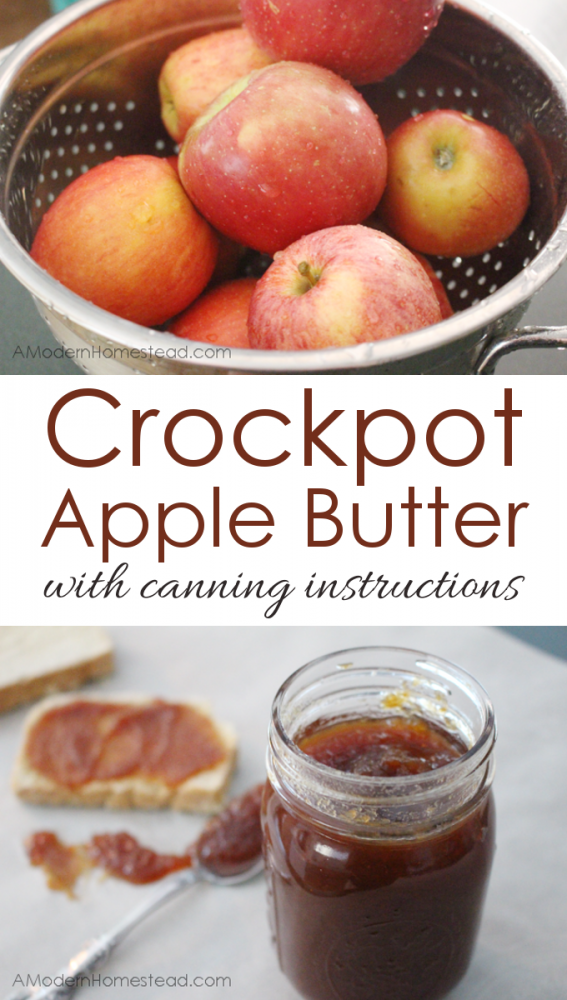 Crockpot Apple Butter with Canning Instructions. This is seriously ...