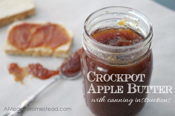 Crockpot Apple Butter with Canning Instructions. This is seriously like magic! So easy!
