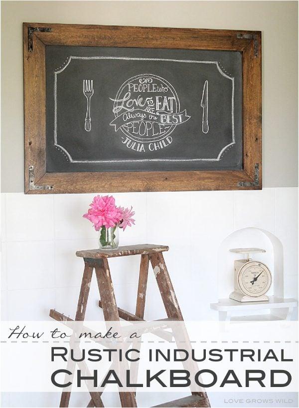 DIY scrap wood rustic chalkboard idea