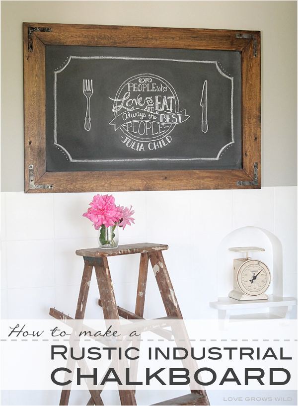 DIY scrap wood rustic chalkboard idea