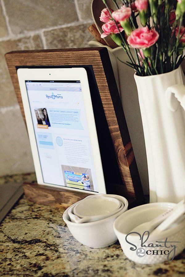 scrap wood DIY ipad stand