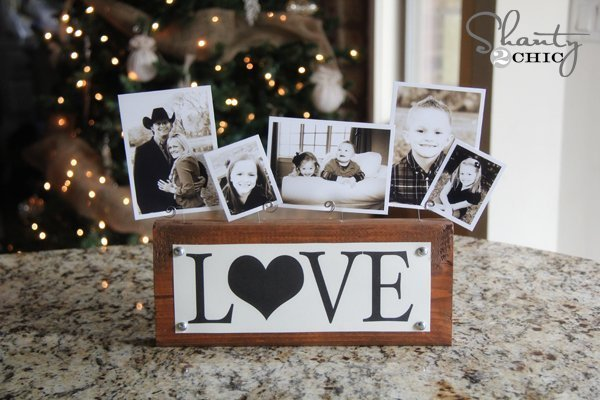 scrap wood photo display stand