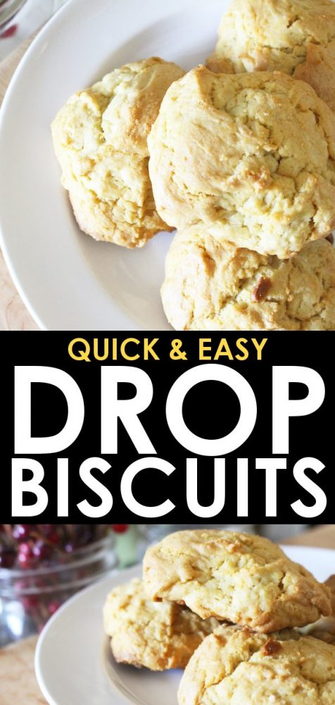 Quick & Easy Drop Biscuits - No milk, No eggs - Oven Ready ...