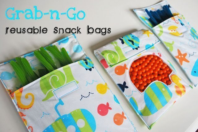 DIY reusable snack bags christmas gifts for kids