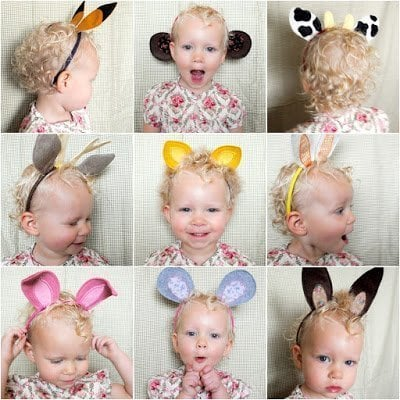 easy Christmas gift idea for kids, DIY make believe ears