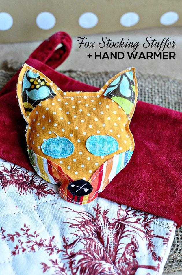 DIY handwarmer fox heat pack gift idea for boys