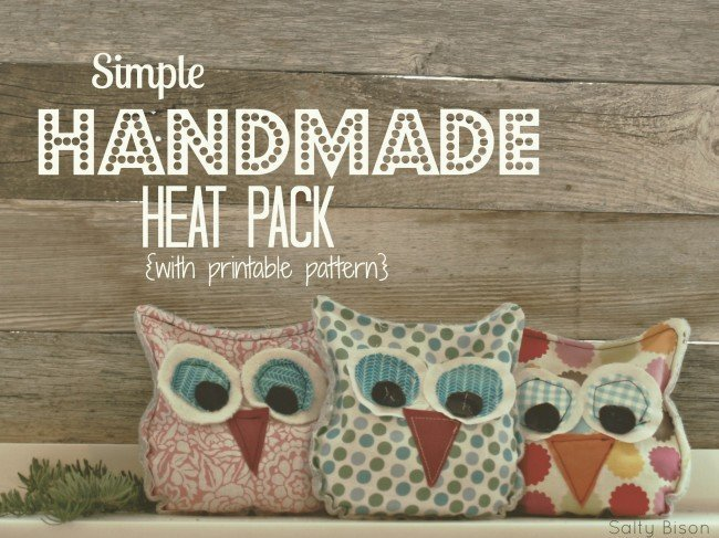 Owl handwarmer heatpack DIY gift for girls