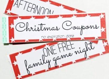 5 Christmas Printable Gift Certificates and Coupon Books