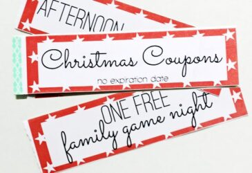 Christmas printable gift certificates coupon books