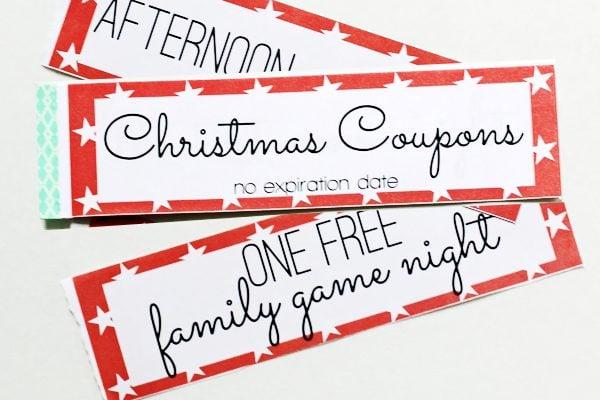 Christmas printable gift certificates coupon books
