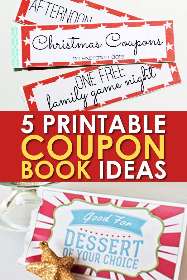 Printable Gift Certificates for Christmas Coupon Books