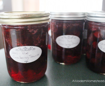Cranberry Sauce with Canning Instructions