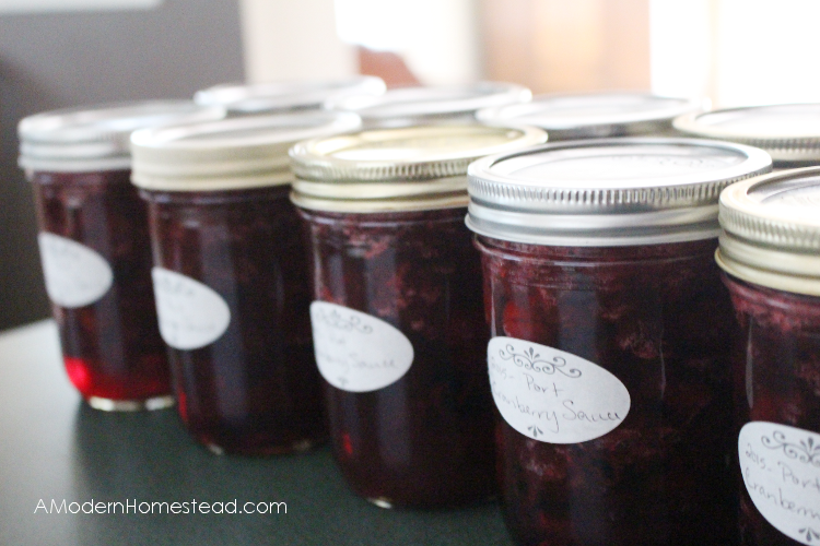 Finished canned cranberry sauce recipe.
