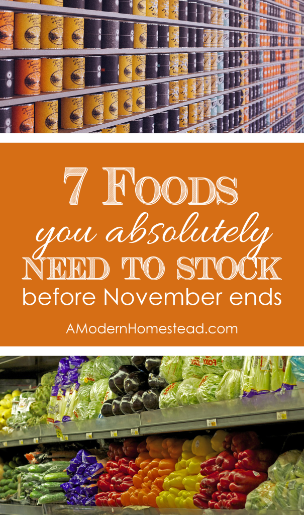 Foods You Need to Stock Before November Ends. These foods are not holiday specific, get them on sale now and use them all year!!