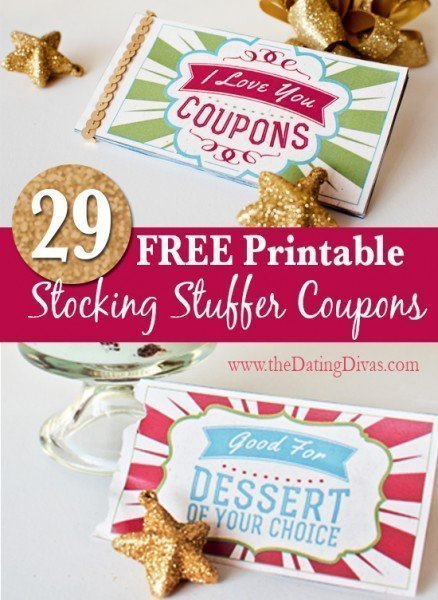 Printable gift certificates stocking stuffer coupons