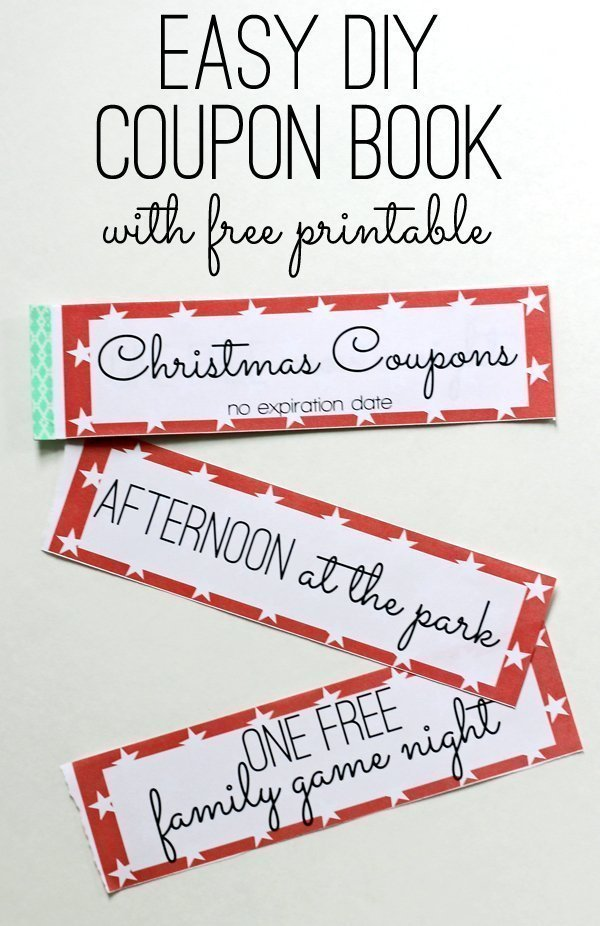 Christmas printable gift coupons for kids