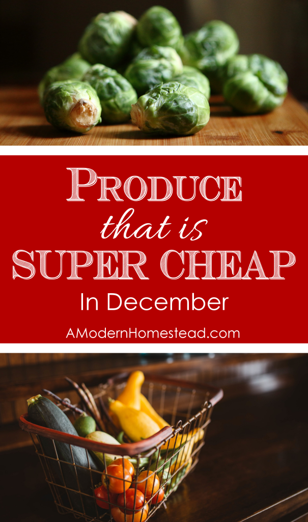 Produce that is SUPER CHEAP in December! Eat well without wasting money, I love it!