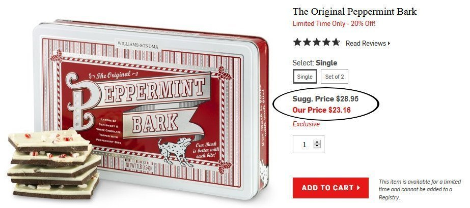William Sonoma Inspired Peppermint Bark