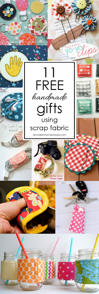 11 Free Handmade Gifts To Make With Scrap Fabric