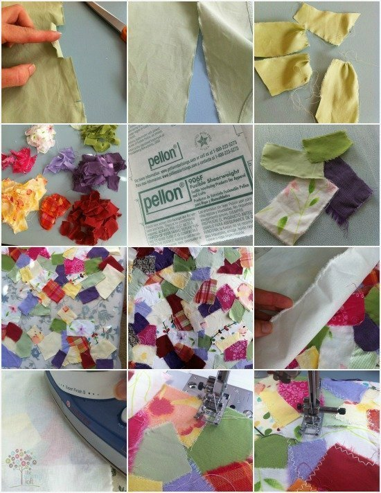 How to make fabric from fabric scraps