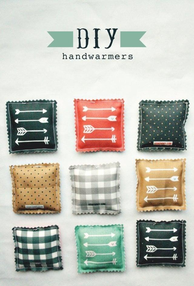 fabric scraps DIY handwarmer
