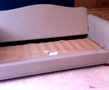 Thrifty Tricks: The $100 Couch Make Over