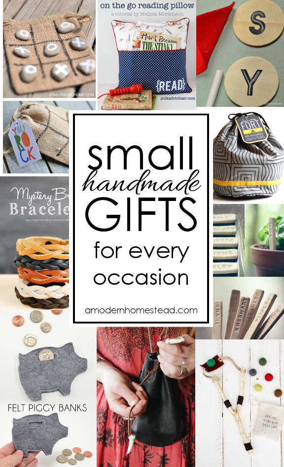 Small handmade gifts for all occasions! Easy and meaningful, I'm definitely making a few of these instead of buying junk this year!