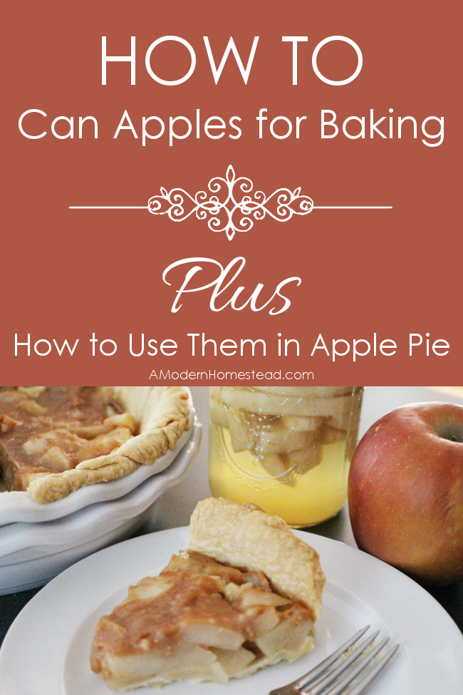I love the idea of canning apples to have for apple pie later on! How to Can Apples for Baking plus an Apple Pie Recipe.