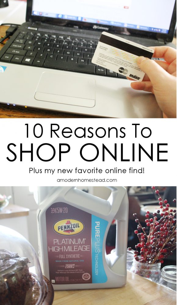 I do a lot of shopping in my local stores, but I have to admit, I love shopping online! Here are my top 10 reasons to shop online!
