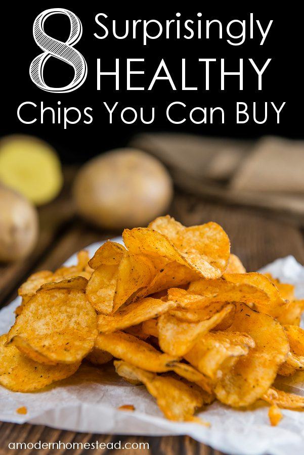 8 surprisingly healthy chip options that you can just buy! Forget making your own, these chips are perfect just the way they are!