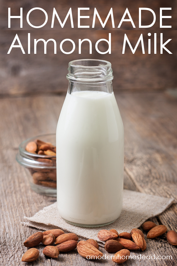 Homemade Almond Milk - contains more almonds than store bought. Use the sweeteners of your choice. No thickeners added!