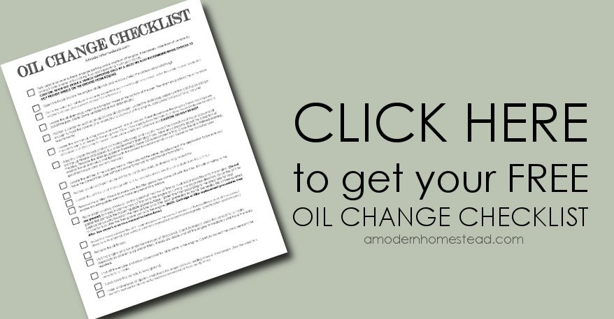 Thinking of doing a DIY oil change? Check on my FREE printable Oil Change Checklist!