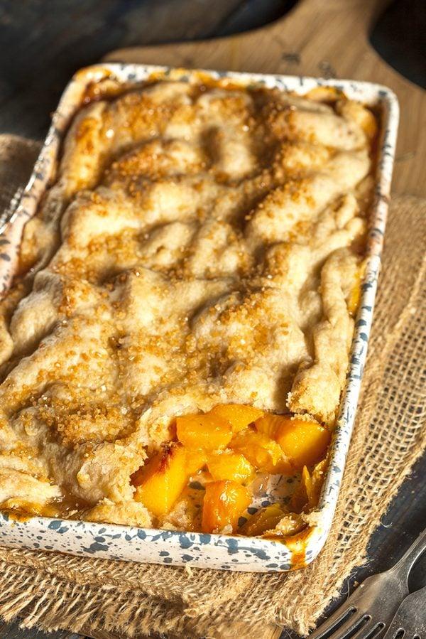 Double Crust Peach Cobbler Recipe