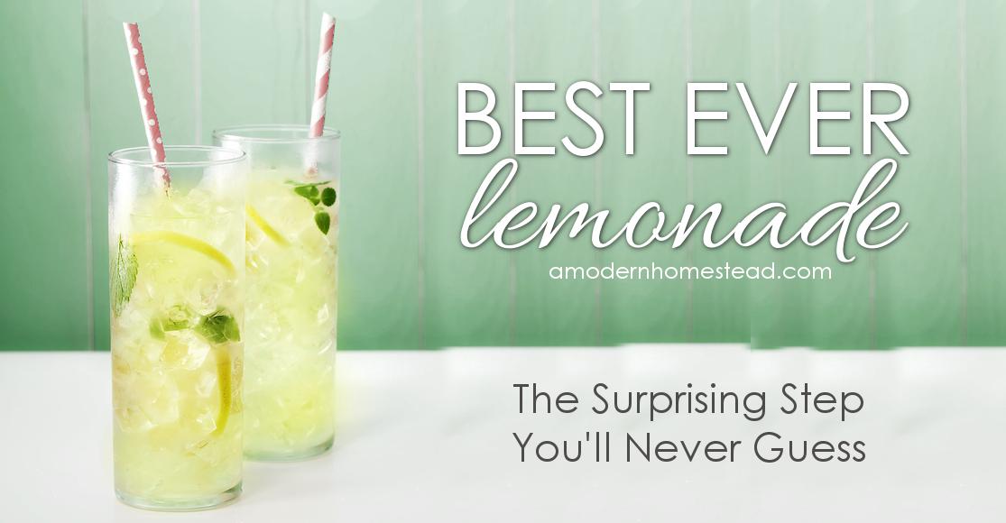 Best Ever Homemade Lemonade - A Modern Homestead