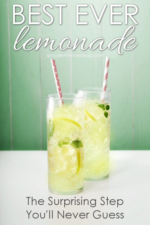 Best ever homemade lemonade! Seriously the best darn lemonade I have ever had! And it's got a very surprising step I never would have thought of! Can't wait to try this!