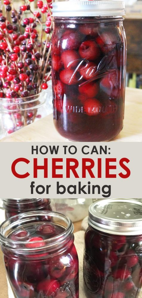 home canned cherries, how to can cherries for pie