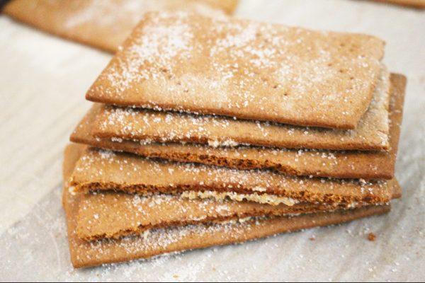 Homemade Graham cracker stack